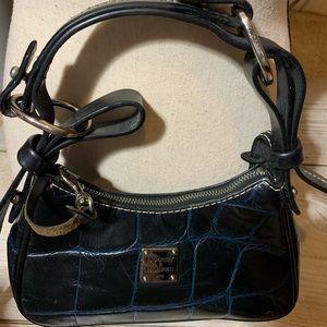 Dooney Bourke navy mini satchel 8 by 4